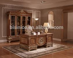 Solid Wood Executive Office Furniture by Exquisite Wood Carving Reading Table And Chair Luxury Executive