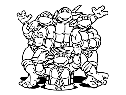 ninja turtles coloring page free coloring book 4614