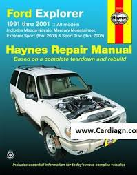 online car repair manuals free 2005 mercury mountaineer windshield wipe control ford explorer mazda navajo haynes repair manual pdf