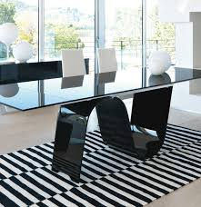 Black Glass Extending Dining Table Remarkable Black Glass Extending Dining Table Unico Contemporary