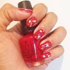 new year u0027s eve nails 2014 opi big apple red opi when monkeys