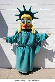 Statue Liberty Halloween Costume Dressed Statue Liberty Stock Photos U0026 Dressed