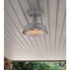 barn style post lights galvanized outdoor lighting stylish urban barn 10 1 4 wide ceiling
