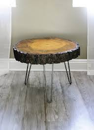 wood slice end table tree slice with bark coffee table or side table tree slices