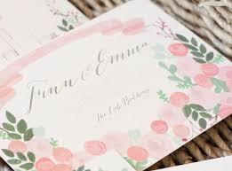 emma finn u0027s floral new york city wedding invitations