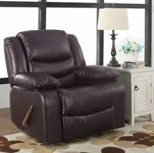 Oversized Rocker Recliner Oversized Leather Recliner Large Extra Wide Rocker Chair Brown