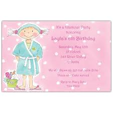spa day birthday party invitations addnow info