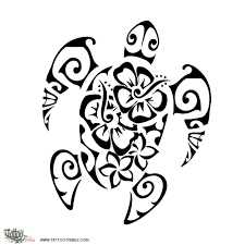 hawaiian flowers sea turtle cool tattoos hawaiian