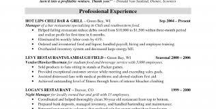 bartending resume template restaurant manager sle resume restaurant bar resume template