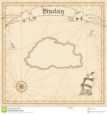 Blank Treasure Map by Bhutan Old Treasure Map Stock Vector Image 91321701