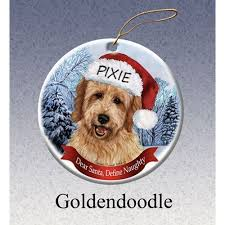 goldendoodle personalized ornaments ornaments