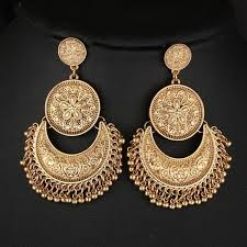 chandbali earrings the tribal muse antique gold chandbali earrings