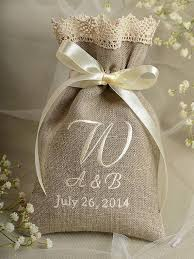 lace favor bags custom listing 100 rustic linen wedding favor bag lace
