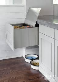 Food Storage Cabinet Pet Food Storage Cabinet Traditional Kitchen Bhg