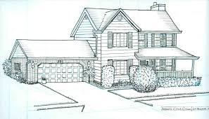 house to draw letus 2 point perspective drawing modern house draw a youtube