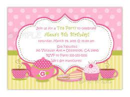 tea party birthday invitation you print
