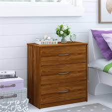 Walmart Filing Cabinets Wood by Mainstays 3 Drawer Dresser Bank Alder Walmart Com