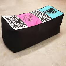 2 seater pouf blue pink and black poufs living room
