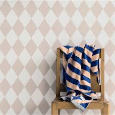 ferm living harlequin wallpaper rose