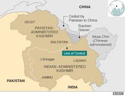 India On A Map by Kashmir Territories Profile Bbc News