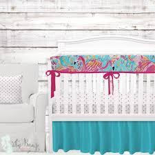 Orange Crib Bedding Lilly Pulitzer Baby Bedding Flamingo Crib Bedding