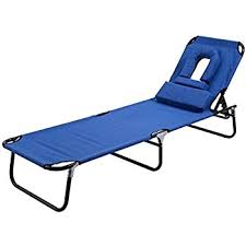 Folding Chaise Lounge Chair Goplus Folding Chaise Lounge Chair Bed Outdoor Patio