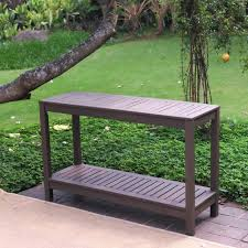outdoor console table bbq bar stand garden patio wood furniture with