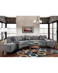 Sectional Sofa With Ottoman Sale Sofa Trendz Bindel Grey Curved Sectional Sofa With