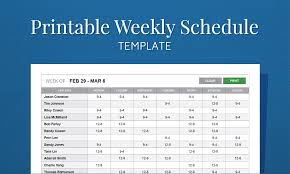 Excel Templates For Scheduling Employees by Free Printable Work Schedule Template For Employee Scheduling