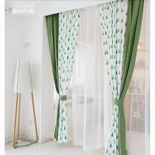 Green Kids Curtains Cute And Fun Green White Polka Dots And Tree Kids Curtains