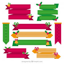 decorative ribbons pack of christmas decorative ribbons vector free