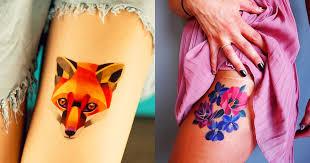 masters of ink irresistible geometric watercolor tattoos by sasha