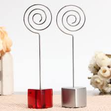 silver red stand circle iron clip card stand photo card holder
