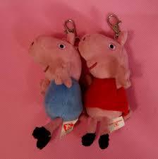 arrival 2013 brand peppa pig u0026george pig keychain plush
