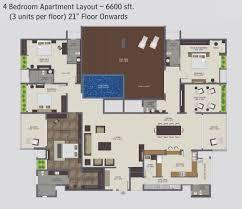 cozy inspiration luxury 4 bedroom apartment floor plans 3 on home