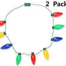 light up bulb necklace led favors