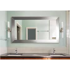 bathroom impressive wade logan rectangle silver vanity wall mirror