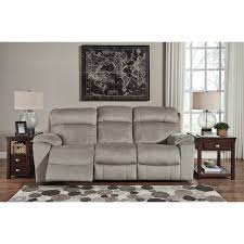 contemporary power reclining sofa w adjustable headrest by