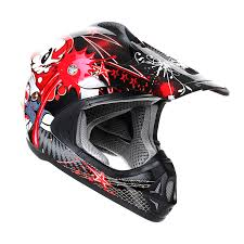 youth motocross helmet stealth helmet hd204 kids mx tagg graphic