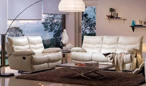 White Leather Living Room Furniture Furniture White Leather Recliner Sofa Set Recliner Chair White
