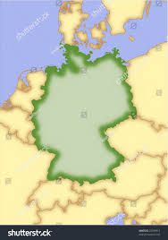 map of countries surrounding germany germany vector map borders surrounding countries stock vector