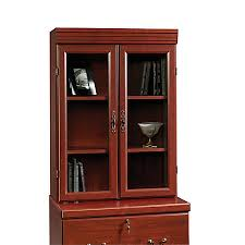 sauder heritage hill lateral file hutch classic cherry by office