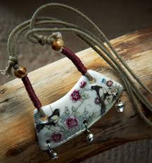 handmade necklace pendants images National wind bells ceramic jewelry jewelry handmade pendant jpg