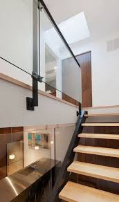 Glass Handrails For Stairs Best 25 Glass Handrail Ideas On Pinterest Glass Railing Glass