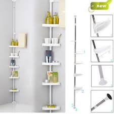 Telescopic Bathroom Shelves Plastic Bathroom Shelf Home Furniture Diy Ebay