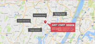 George Washington Bridge Map by East Coast Toyota Conveniently Located Landing Page New East
