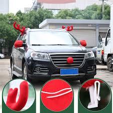 car reindeer antlers element reindeer antlers nose car vehicle costume christmas