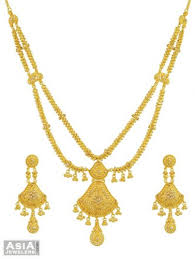 double necklace set images 22k gold polki necklace set ajns55223 22k gold hand crafted jpg