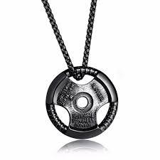 necklace black men images Piastra barbell necklace black posh men club jpeg