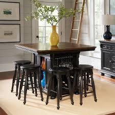 rivington hall kitchen island with 4 backless stools d0218n